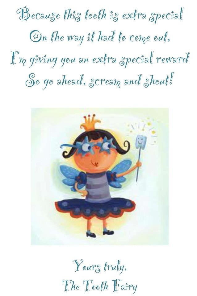 Tooth fairy letter create pinterest tooth fairy for Fairy letters