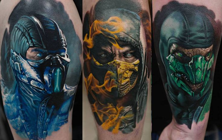 Reptile Mortal Kombat Tattoos