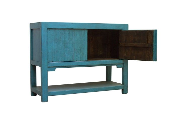 Turquoise Tall Sideboard