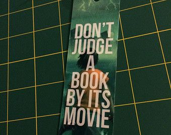 """Percy Jackson bookmark """"Don't Judge A Book By Its Movie"""""""