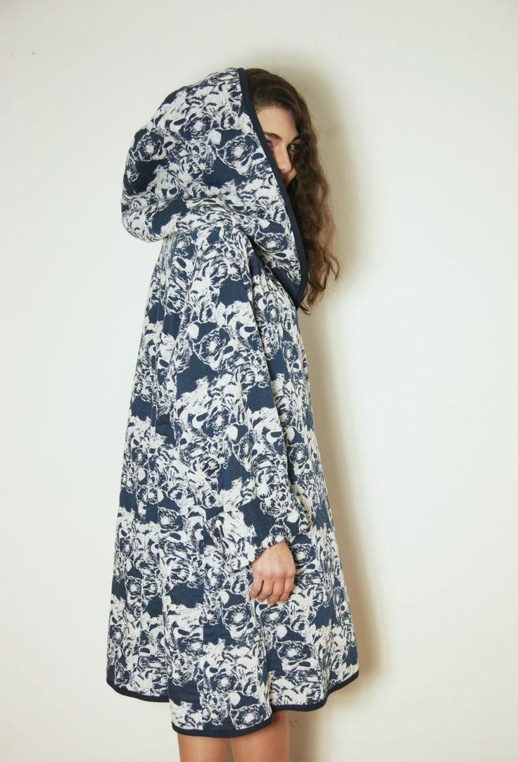 LIGHT COAT WITH FLORAL PATTERN  tsouknida.eu