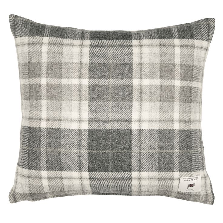 Laura Ashley Mulholland Steel Check Cushion #LauraAshleySS16 #CityDwelling