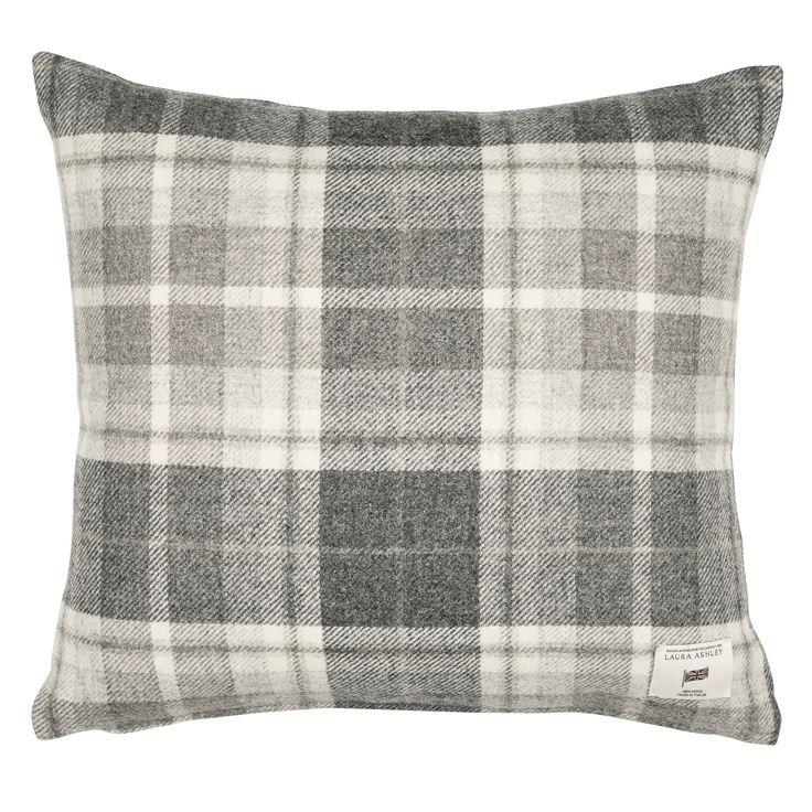 Laura Ashley Mulholland Steel Check Cushion #LauraAshleySS16 #CityDwelling
