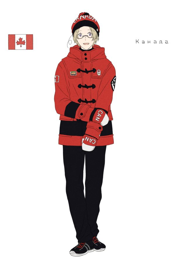 Matthew in the Canadian athletes' uniform from the Opening Ceremonies of the 2014 Sochi Winter Olympic Games - Art by toxicell.tumblr.com