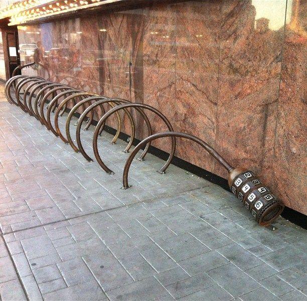 Bike Lock Parking Rack