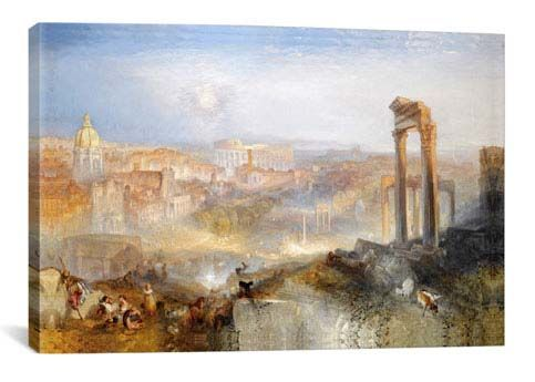 Modern Rome, Campo Vaccino by William Turner  Giclee Poster