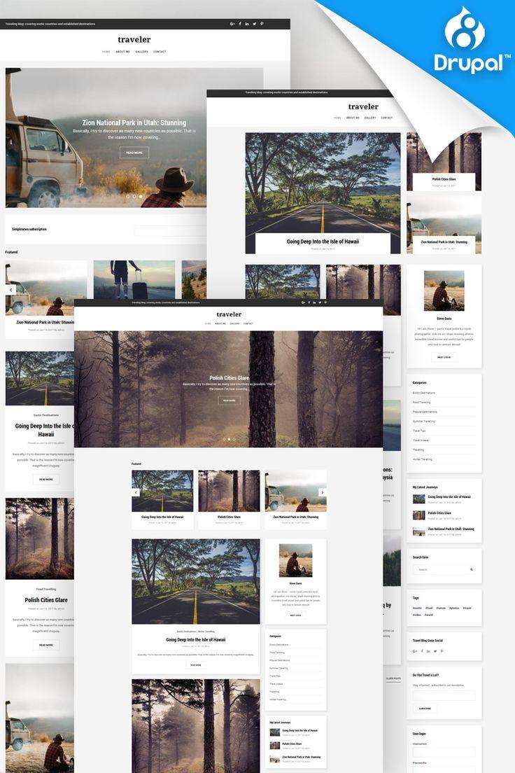 Treveler - Travel Blog Premium Drupal Template Big Screenshot