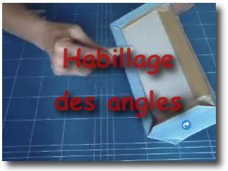 Boite : habillage des angles  (video)