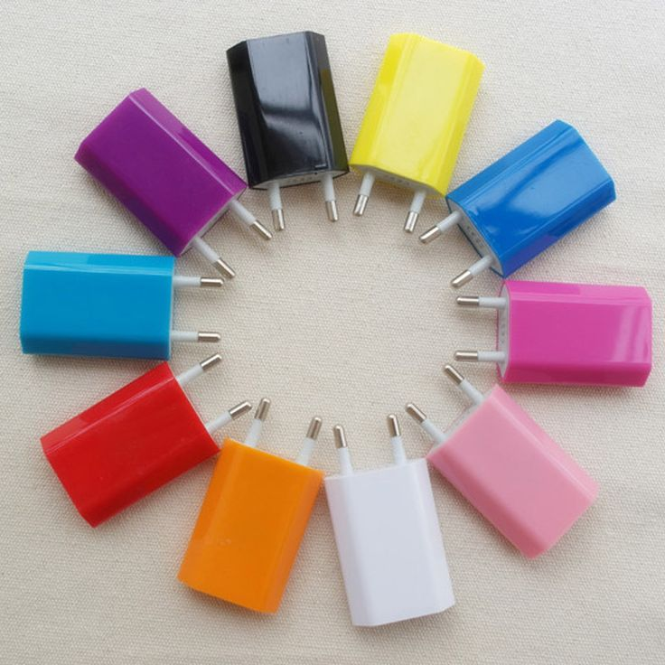 Hot Selling Colorful Travel Wall Charging Charger Power Adapter European USA Plug USB AC For Apple iPhone 6 5 5S 4 4S 3GS iPod