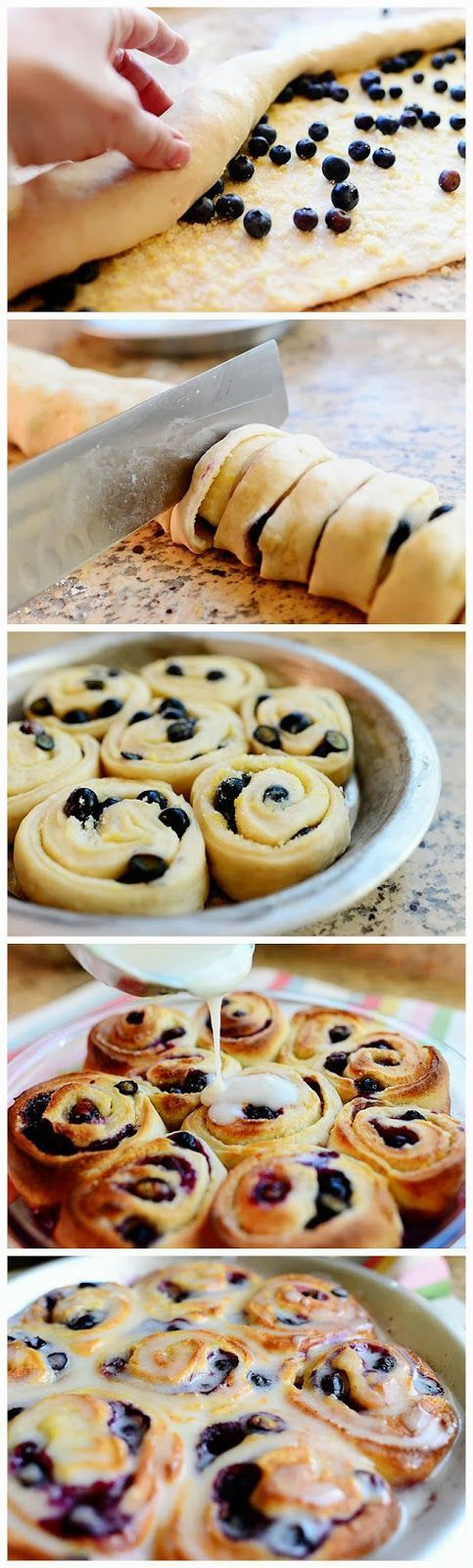 Blueberry Lemon Sweet Rolls - use Pilsbury rolls for the dough and you ...