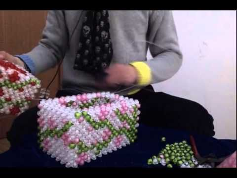 Beans Plum Flowers Tissue Box 手工珠饰:梅花纸巾盒教程3 2