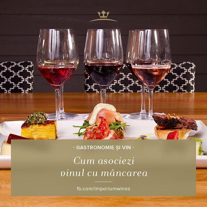 Vinul trebuie asortat mâncării, și viceversa - află aici regulile asocierii corecte: http://www.nutripedia.ro/2012/05/01/cum-asociem-vinul-potrivit-cu-mancarea-potrivita/