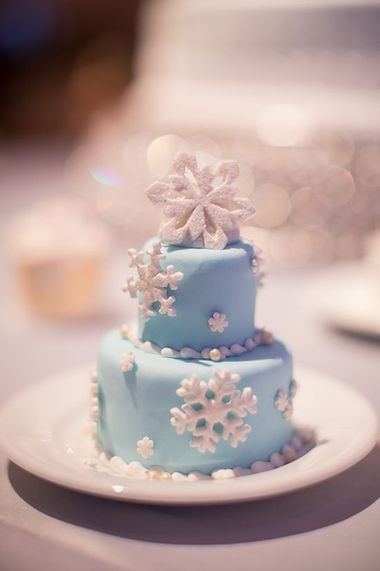 Mini winter wedding cake.