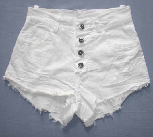 Shorts strappati a vita alta