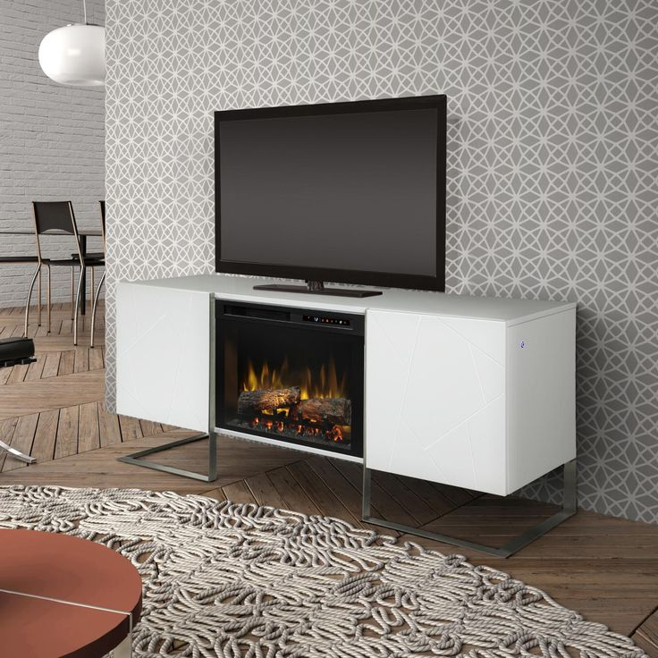 """Dimplex Chase 65"""" Electric Fireplace Media Console Inner"""