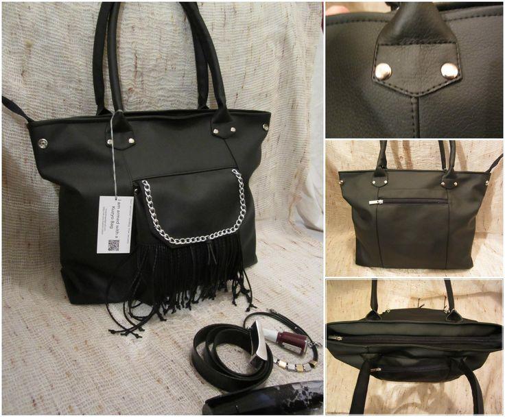 #kuzyo #bags #fringed #black #design #trendy #fashion #photo