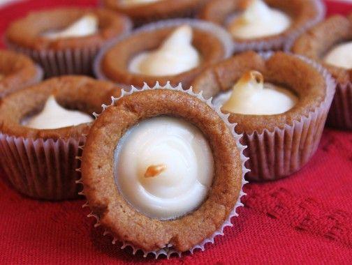 Gingerbread Cheesecake Bites.  4 Ingredients!