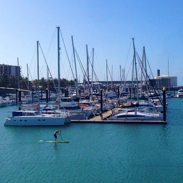 Best way to spend a hump day? Stand up paddle boarding at the Mackay Marina! Photo from @_markfitz #meetmackayregion