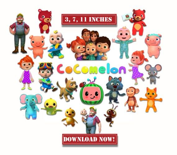 Cocomelon Centerpiece 3 Sizes Digital Pdf Clipart Instant Download Cake Topper Birthday 1st Birthday Party Themes 1st Birthday Parties Birthday Party Themes