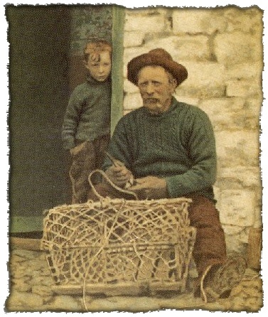 Fisherman wearing a traditional gansey