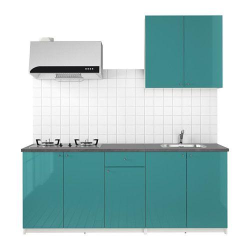 KNOXHULT Dapur IKEA Dapur lengkap sudah termasuk daun meja, rak, laci, bak cuci, keran mixer wastafel dan water-trap.