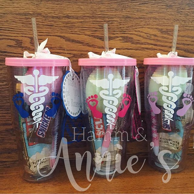 Thank you tumblers for the OB nurses. Get your order started today!!  Find me on Facebook and Instagram @ HAMM and ANNIES. HAMMandANNIES  love, cute, follow me, happy, beautiful, fun, custom, personalized, vinyl, thank a nurse, ob, obnurse gifts