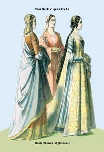 Art Print Noblewomen Of Florence 15Th Century 20x30 New DB-20244