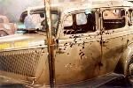 Bonnie and Clyde death car.  On the day of the ambush, Bonnie and Clyde never even got off a shot.
