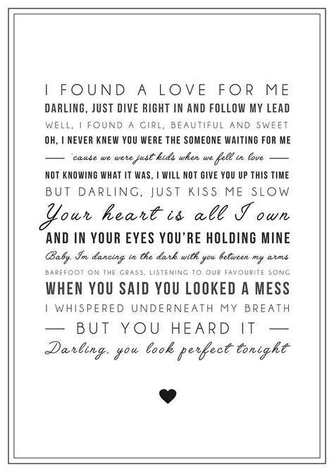 ed sheeran perfect lyrics
