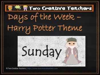 Days of the Week Harry Potter Theme - Two creative teachers