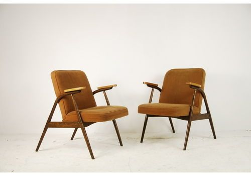 A Pair Of Armchairs, Poland, 1960s   vintage armchairs
