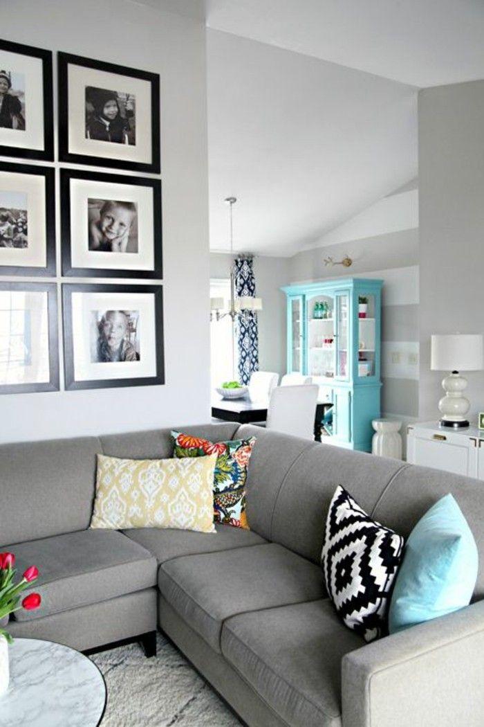 Die 25+ Besten Ideen Zu Grau Akzent Wände Auf Pinterest ... Graues Wohnzimmer Akzente
