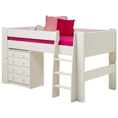 Steens Glossy White Mid Sleeper Bed Frame £219.99