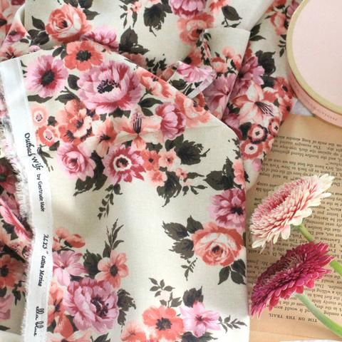 Outback Wife Vintage Floral Gertrude Made | Alys | Cotton Merino