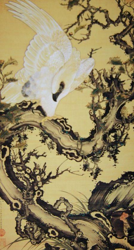 伊藤若冲 枯木鷲猿図 1756~1757年頃