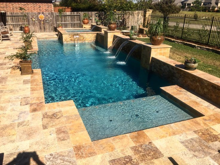 Another Angle Of This Geometric Design Designer Kyle Franco Premier Pools A Spas Houston Amazing Swimming Pools Swimming Pool House Small Backyard Pools