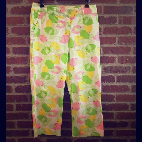 Lilly Pulitzer Fruit Print Pant Lilly Pulitzer fruit print pant. In great condition. Size tag has been ripped out but they are size 12. Offers welcome, no trades. Lilly Pulitzer Pants