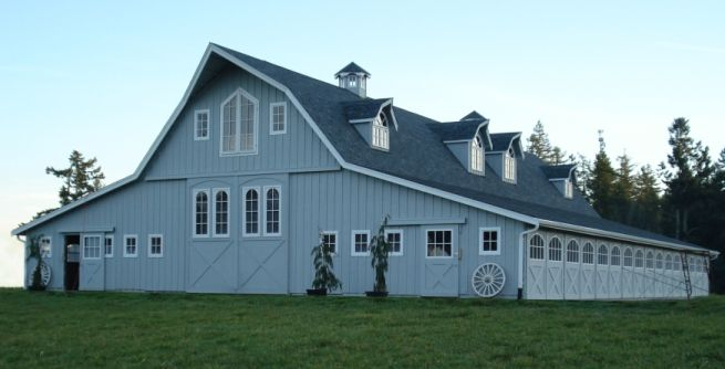 29 best gambrel barn plans images on pinterest gambrel for Gambrel roof barn kits