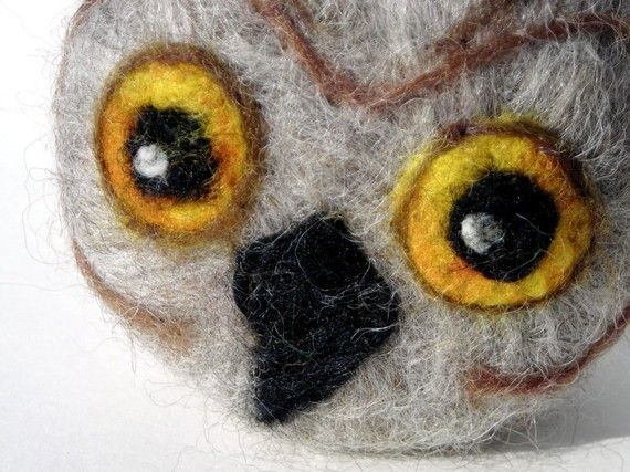 Wise Owl Felted Goat Milk Soap by Engelfelt on Etsy, $12.00