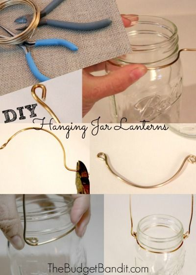 DIY Shabby Chic Hanging Mason Jar Lanterns - Living Chic Mom
