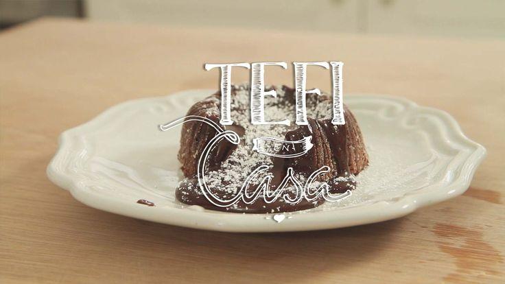 Volcán de Chocolate y Nutella   Tefi en Casa - YouTube