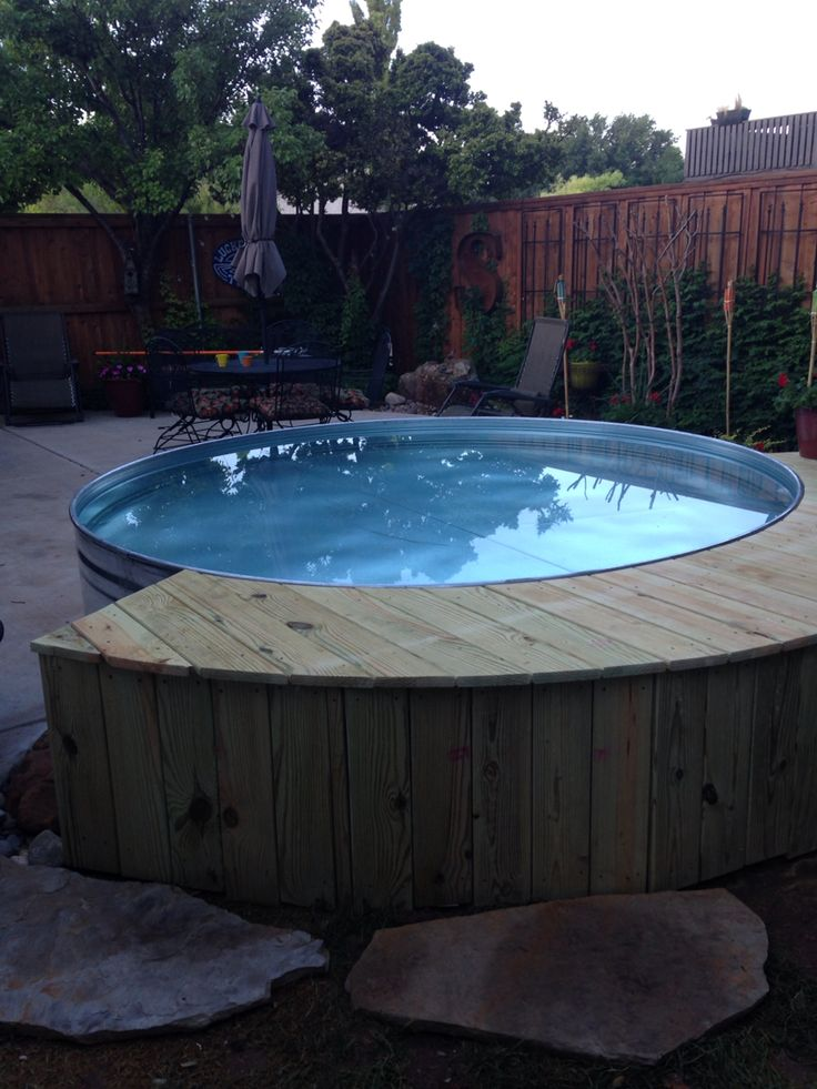Stock tank pool for the home pinterest the o 39 jays - How to filter a stock tank swimming pool ...