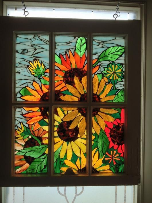 how to make glass mosaic window art - Google Search