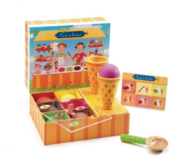 Djeco - Odgrywanie ról - zestaw do zabawy w lodziarnie