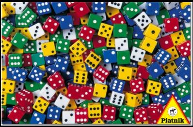 Dados.Puzzle de 1000 piezas de Piatnik.  http://devorapuzzles.blogspot.com.es/