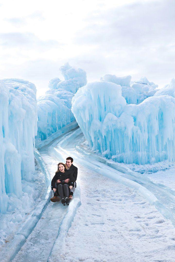 Edmonton Ice Castle Engagement
