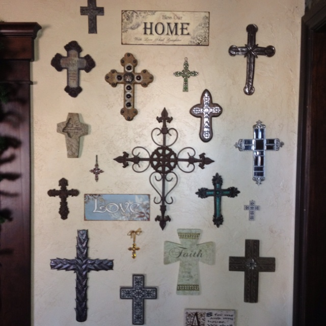 Cross Wall Like It With The Plaques Too Pinterest Crosses And Decor