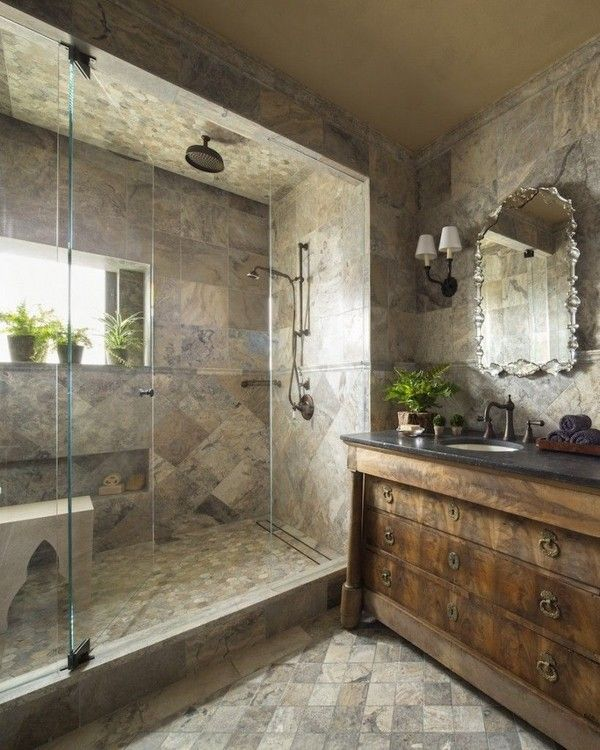 30 Awesome Modern Rustic Bathroom Decor Ideas The Urban Interior Contemporary Bathroom Designs Modern Bathroom Bathroom Design