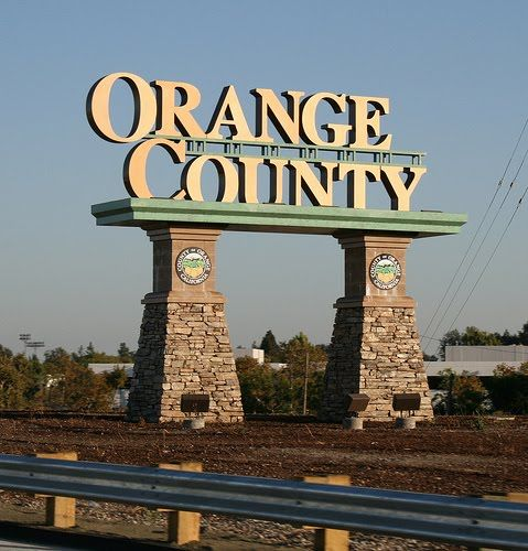 Freeway sign when entering orange county from los angeles for Used lumber los angeles