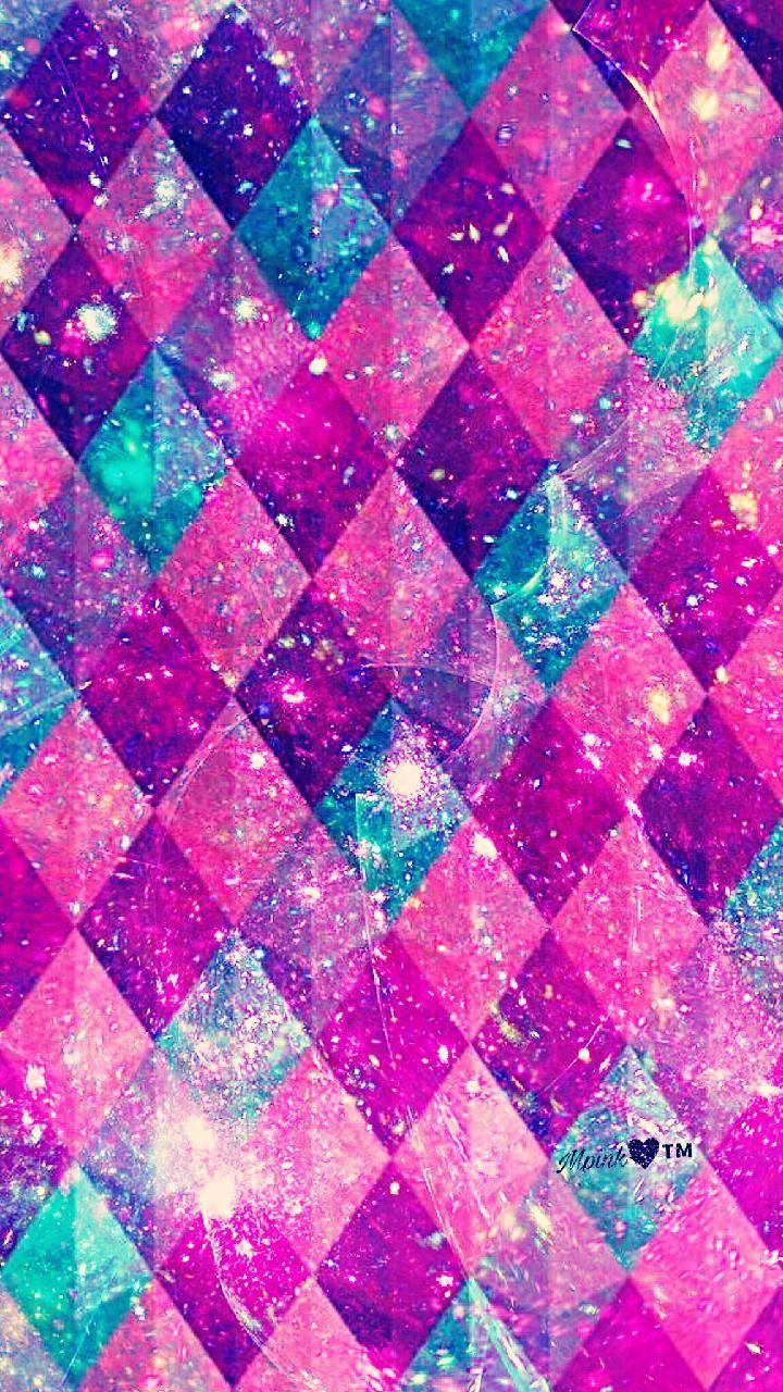 Pink Diamonds Galaxy Wallpaper Iphonewallpapers Glitter Wallpaper Iphone Wallpaper Glitter Cute Patterns Wallpaper